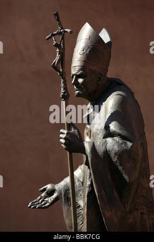 Poland Krakow Wawel Castle Pope John Paul II statue - Stock Photo
