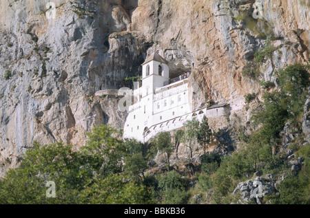 Ostrog monastery, Montenegro, Balkans - Stock Photo