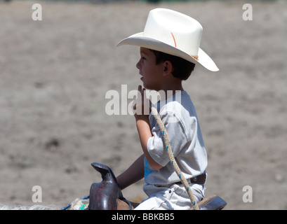 Panama.Exhibition of cowboys in David. - Stock Photo