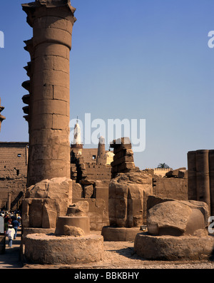 Luxor Temple Mosque of Abu-el-Haggag the patron saint of Luxor Egypt - Stock Photo