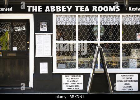 Abbey Tea Rooms, Tewkesbury, Gloucestershire, UK - Stock Photo