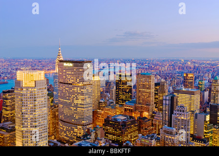 View from Top of the Rock - Stock Photo