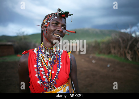 Ngoiroro is a village of 200 inhabitants all belonging to the Massai Tribe The village lays right in the rift valley - Stock Photo