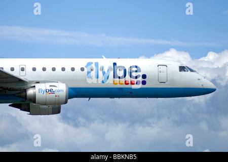 Flybe Embraer Civil Airliner E-195 ERJ190-200 Serial Registration G-FBEB SCO 2499 - Stock Photo