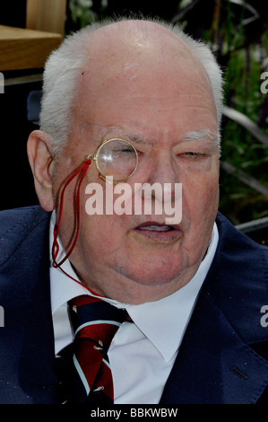 SIR PATRICK MOORE - UK astronomer and TV presenter in May 2008 - Stock Photo