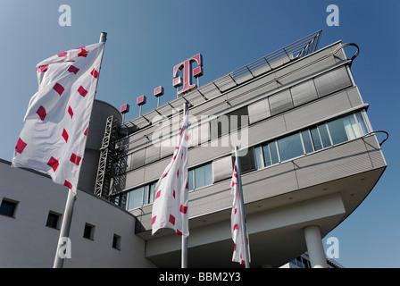 Corporate headquarters of the Deutsche Telekom, Bonn, North Rhine-Westphalia, Germany, Europe - Stock Photo