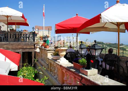 MALTA. The Cafe Fontanella in Mdina. 2009. - Stock Photo