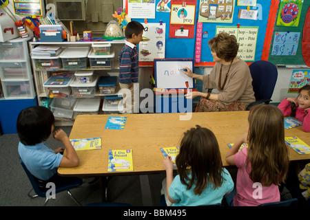 multi ethnic inter racial diversity racially diverse multicultural multi cultural interracial kindergarten class - Stock Photo