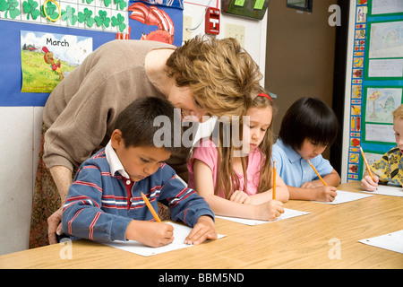 Elementary kids multi ethnic racial diversity racially diverse multicultural mult i cultural interracial students - Stock Photo