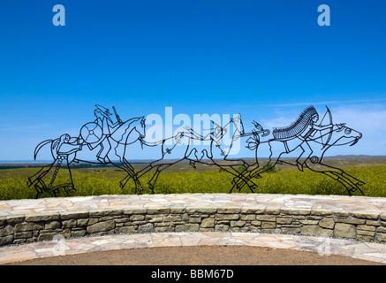 Lakota Cheyenne Indian Memorial, Little Bighorn Battlefield, Montana.
