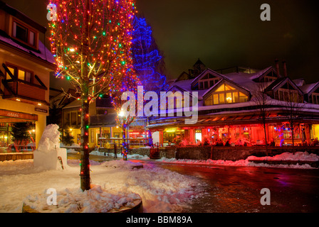 The town of Whistler one of the host venues for the 2010 Vancouver Winter Olympics British Columbia Canada - Stock Photo
