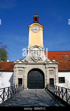 New Castle, gateway, Ingolstadt, Bavaria, Germany, Europe - Stock Photo