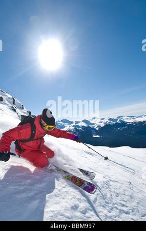 Skiing on Whistler - Stock Photo