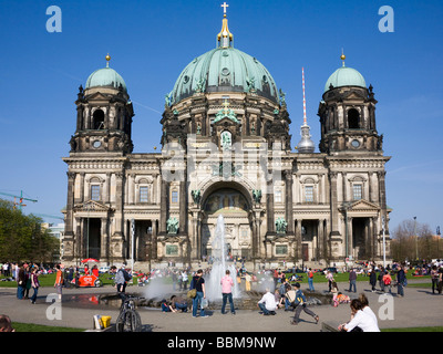 Berlin Cathedral at the Lustgarten park, Berlin-Mitte, Germany, Europe - Stock Photo