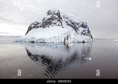 Antarctica, Gerlache Strait.  Exploring the Lemaire Channel between the Antarctic Peninsula (Graham Land) and Booth - Stock Photo