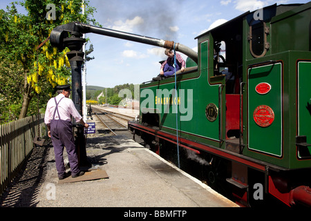 Strathspey Restored Steam Railway,  Boat of Garten steam railway station Aviemore, Scotland, UK - Stock Photo