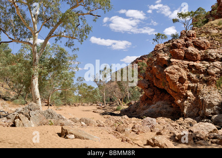 In the Red Bank Gorge, West MacDonnell Ranges, Northern Territory, Australia - Stock Photo