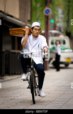 Traditional Soba Delivery - Stock Photo