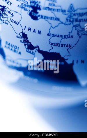 Iran map - Stock Photo