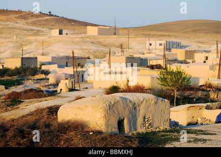 Fishing village on the Asad reservoir of the Euphrates, Syria, Asia - Stock Photo