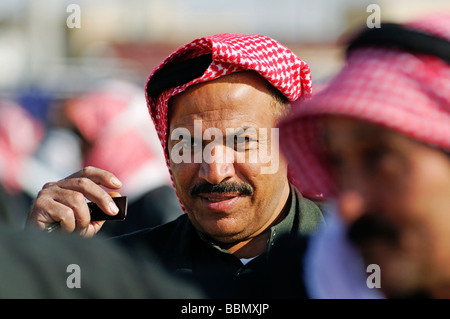 Portrait man, Kafseh, Syria, Asia - Stock Photo