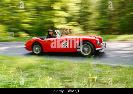 Austin Healey 3000 MK I BT7, built in 1961, vintage car motor rally Wiesbaden 2009, Hesse, Germany, Europe - Stock Photo