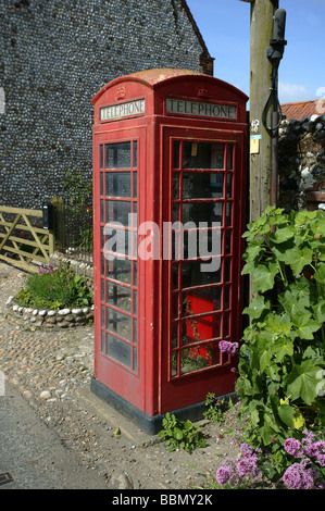 A Traditional Red Telephone Box in England. - Stock Photo
