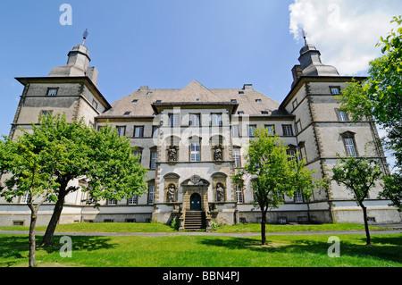 Former main building of the German Knights, Deutschorden, Teutonic order, castle, Sichtigvor, Warstein, Moehne, - Stock Photo
