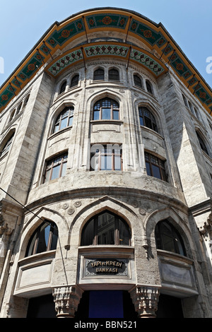 Ottoman Bank building in Art Nouveau style, Sirkeci district, Istanbul, Turkey - Stock Photo