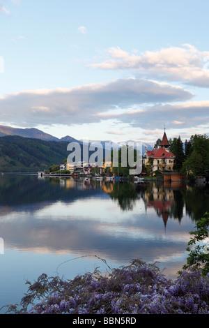 Millstaetter Lake, Millstatt, morning mood, Carinthia, Austria, Europe - Stock Photo