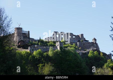 Landskron castle ruins by Villach, Carinthia, Austria, Europe - Stock Photo