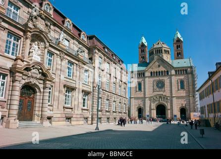 The Speyer Cathedral, Kaiserdom, Speyer, Rhineland-Palatinate, Germany, Europe - Stock Photo