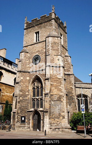 st botolph's parish church on the corner of silver street and trumpington street cambridge uk - Stock Photo