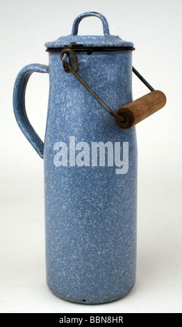 household, vessels, milk churn with handle, Germany, after 1945, Additional-Rights-Clearances-NA - Stock Photo