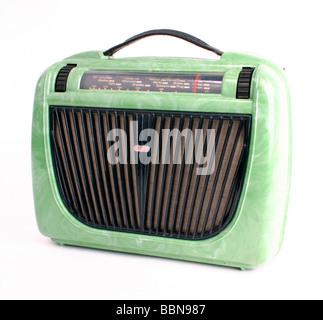 broadcast, radio, radio sets, portable radio 6 D 71, made by VEB Stern-Radio Berlin, GDR, 1953, historic, historical, - Stock Photo
