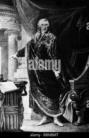 Kaunitz, Wenzel Anton Graf von, 2.2.1711 - 27.6.1794, Austrian politician, chancellor of Austria, full length, wearing - Stock Photo