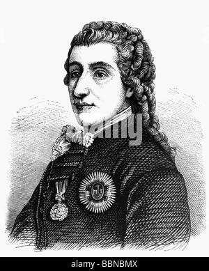 Kaunitz, Wenzel Anton Graf von, 2.2.1711 - 27.6.1794, Austrian politician, chancellor of Austria, portrait, contemporary - Stock Photo