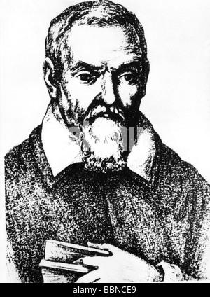 Santorio, Santorio, 1561 - 24.2.1636, Italian medic / physician, portrait, contemporary image, - Stock Photo