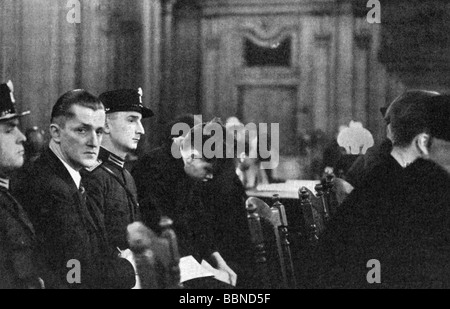 justice, lawsuits, Reichstag Fire Trial, 21.9.1933 - 23.12.1933, Additional-Rights-Clearances-NA - Stock Photo