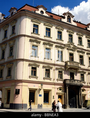 Kafka, Franz, 3.7.1883 - 3.6.1924, Austrian poet, birthplace, Prague, Czech Republic, Additional-Rights-Clearances - Stock Photo