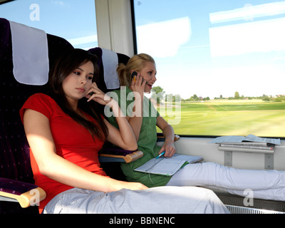 people, two, man, traveller, travellers, 25-30, adult, blonde, ponny, tail, brunette, sit, disturb, tired, tirednes, - Stock Photo