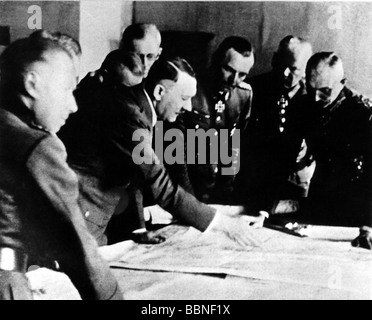 events, Second World War / WWII, Russia, Stalingrad 1942 / 1943, conference at the headquarters of Army Group South - Stock Photo