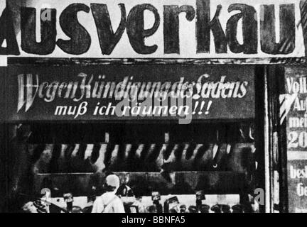 events, Great Depression 1929 - 1933, shop selling out because of termination of the rental agreement, Germany, - Stock Photo
