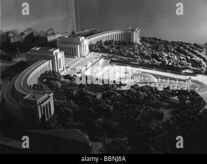 exhibitions, world exposition, Paris, 25.5.1937 - 25.11.1937, Palais de Chaillot, architects: Leon Azema, Louis - Stock Photo