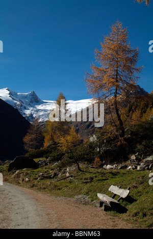 geography / travel, Austria, Tyrol, Gschloesstal, Schwarze Wand and Schlatenkees, Additional-Rights-Clearance-Info - Stock Photo
