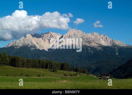 geography / travel, Italy, South Tyrol, Latemar with Latemar summit, Additional-Rights-Clearance-Info-Not-Available - Stock Photo