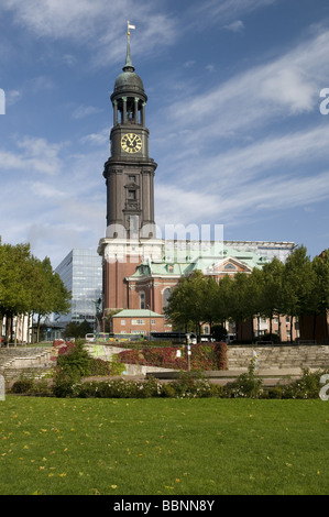 geography / travel, Germany, Hamburg, St. Michaelis church, exterior view, Additional-Rights-Clearance-Info-Not - Stock Photo