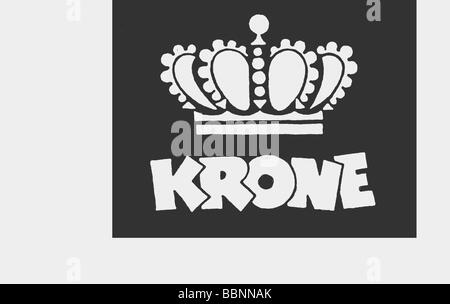 circus Krone, logo, 1957, Additional-Rights-Clearances-NA - Stock Photo