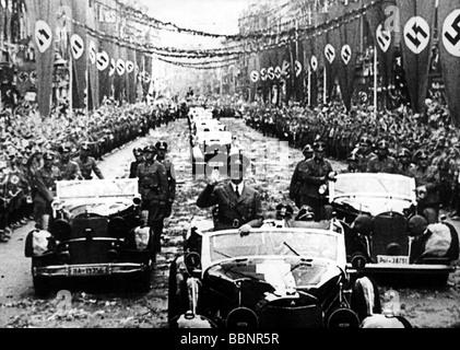 Hitler, Adolf, 20.4.1889 - 30.4.1945, German politician (NSDAP), Fuehrer and Reich Chancellor since 1933, half length, - Stock Photo