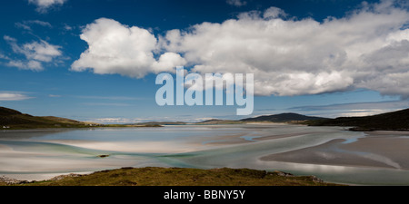 Luskentyre beach, Isle of Harris, Outer Hebrides, Scotland, Panoramic - Stock Photo